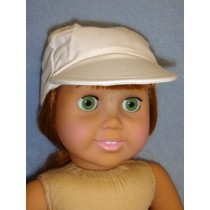 "White Baseball Cap for 18"" Dolls"