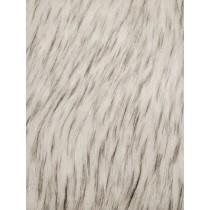 White_Black Norwegian Husky Fur Fabric - 1 Yd