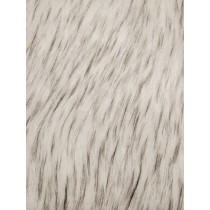 White_Black Norwegian Husky Fur Fabric - 1 Yd