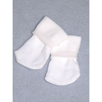 "White Bobbie Socks for 18""-20"" Dolls"