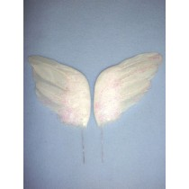 "|White Feather Wings - 4 1_2"" 2 pcs"