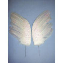 "White Feather Wings - 6 1_2"" 2 pcs"