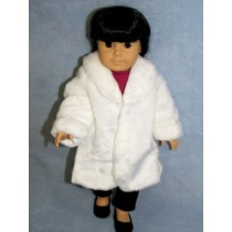 "White Fur Coat - 18"" Doll"