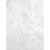 White Luxury Shag Fur - 1 Yd