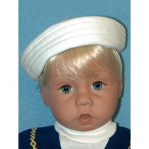 "White Sailor Hat for 21-24"" Dolls"