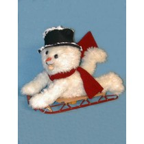 Whiz Snowman Kit-White Distressed Fur