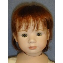 """10"""" Dark Brown Synthetic Mohair Doll Wig Pulled Back With Soft Curls"""