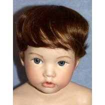 "Wig - Newborn - 9-10"" Brown"