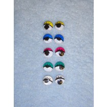 Wiggle Eye w_Eyelashes - 10mm Assorted