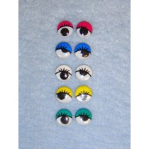 Wiggle Eye w_Eyelashes - 12mm Assorted