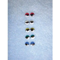 Wiggle Eye w_Eyelashes - 7mm Assorted