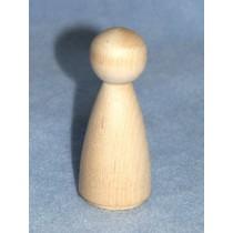 "Wood - 3 1_2"" Doll Pin - Pkg_2"