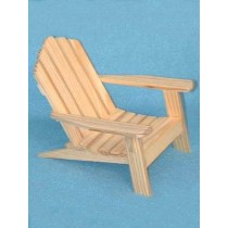 "Wood - Adirondack Chair - 5"" high"