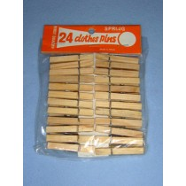"Wood - Clothespins - 1 3_4"" Pkg_24"