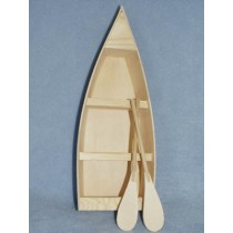 "Wood Boat w_Oars - 12"" long"