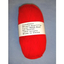 Yarn - Red - 6 oz Acrylic