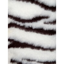 Zebra Fur Fabric - Bk_White 1 Yd