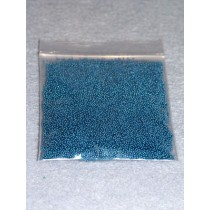 |1-1.25mm Blue Glass Beads - 2 oz.