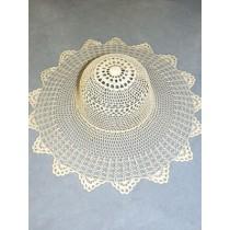 """ 14"""" Off-White Crochet Hat"""