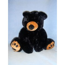 "|16"" Plush Sitting Black Bear"
