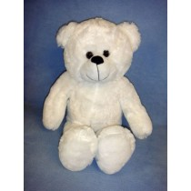 "|16"" Plush Sitting White Bear"