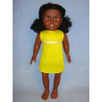 "|18"" Dark Springfield Doll w_Black Hair"