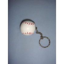 "|1 1_2"" Baseball Keychain"