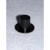 "|1 1_2"" Black Plastic Top Hat - Pkg_6"