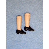 "|1 1_2"" Porcelain Legs w_Black Painted Shoes"