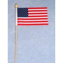 """ 2 1_2 x 4"""" American Flag w_8"""" Pole"""