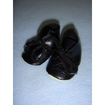 "|Shoe - Toddler Tie - 2 3_8"" Black"