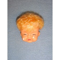 "|2"" Crying Baby Head w_Blond Hair"