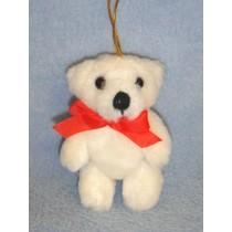 "|3 1_2"" White Plush Bear"