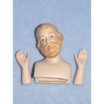 "|3 1_4"" Porcelain Joseph Head & Hands"