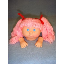 "|3 3_4"" Head - Tiny Teeter Tot Girl w_Pink Hair"