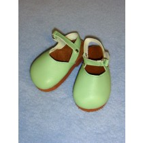 "|3 7_8"" Light Green Mary Jane Clogs"