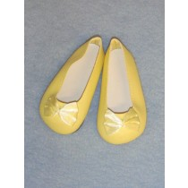 "|3 7_8"" Yellow Fancy Slip-Ons"