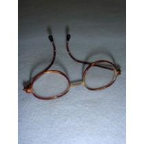 "|Glasses - 3"" Tortoise Wire"