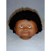 "|4 1_2"" Head - Teeter Tot Boy - Dark w_Black Hair"