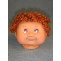 "|4 1_2"" Head - Teeter Tot Boy w_Brown Hair"