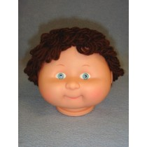 "|4 1_2"" Head - Teeter Tot Boy w_Dark Brown Hair & Crystal Eyes"