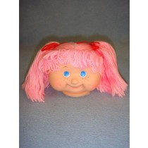 "|4 1_2"" Head - Teeter Tot Girl w_Pink Hair"