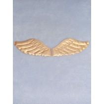 "|4 1_2"" x 2"" Gold Puffy Angel Wings - 2 pcs"
