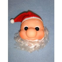 "|4"" Big Nose Santa Head"