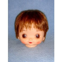 "|4"" Doll Head w_Brown Hair"