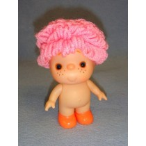"|5 1_2"" Beezy Doll w_Pink Yarn Hair"