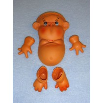 "|5 1_2"" Tummy Monkey Face_Tummy, Hand & Feet"