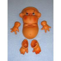 " 5 1_2"" Tummy Monkey Face_Tummy, Hand & Feet"