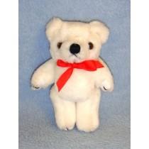 "|5"" White Plush Bear"