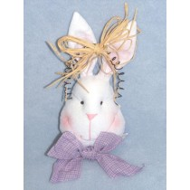 "|6"" Felt Rabbit Head w_Wire Hanger"